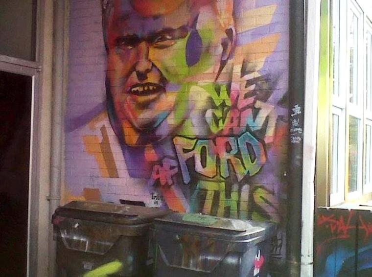 Rob Ford graffiti in Toronto