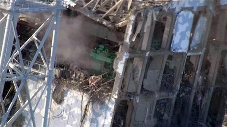 TEPCO photo of Fukushima reactor No. 1.