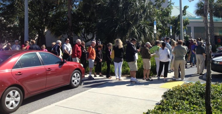 Gov. Scott says no to more early voting in Florida. Y'all just keep standing in line