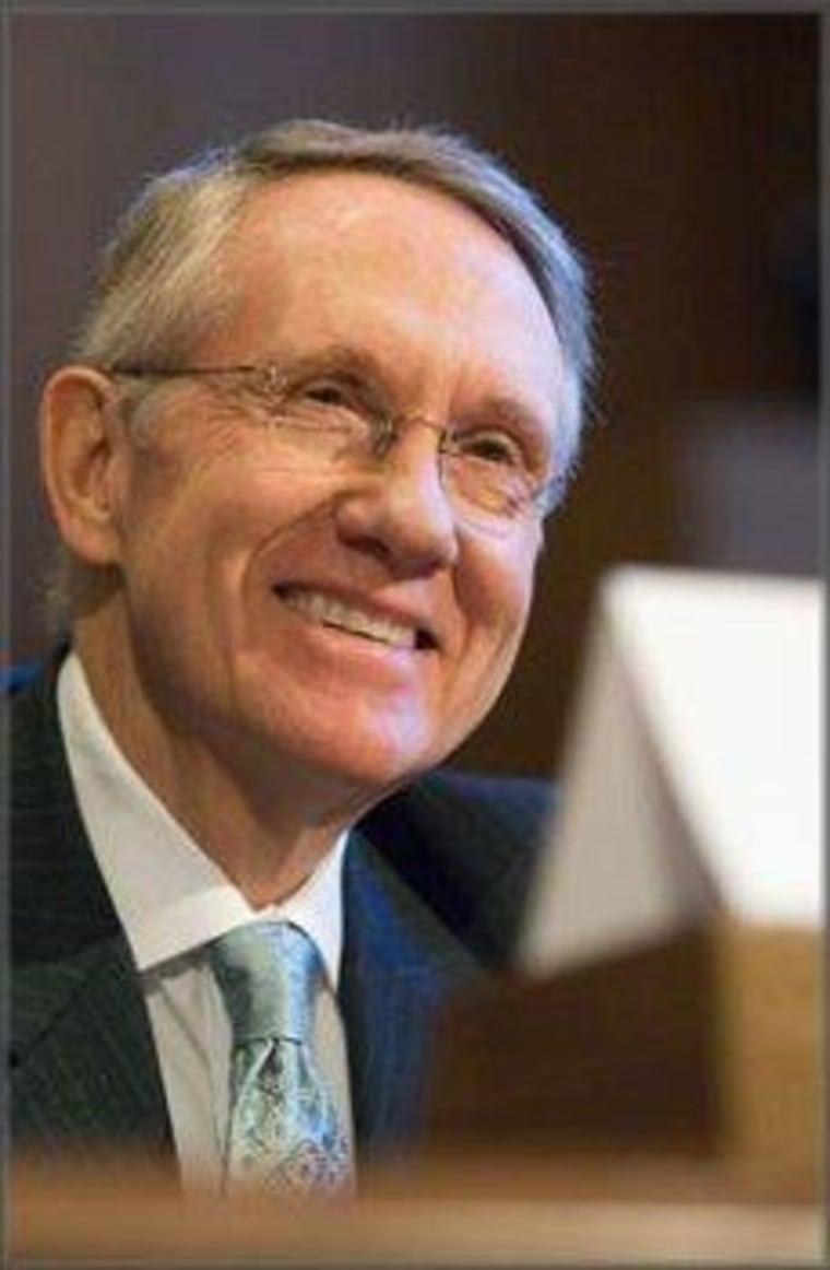We know why Senate Majority Leader Harry Reid (D-Nev.) is smiling.