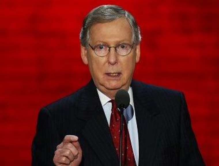 McConnell's clumsy opportunism
