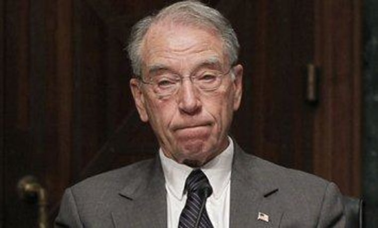 Chuck Grassley, waiting by the phone