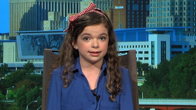 Madison Kimrey on MSNBC's Melissa Harris-Perry.