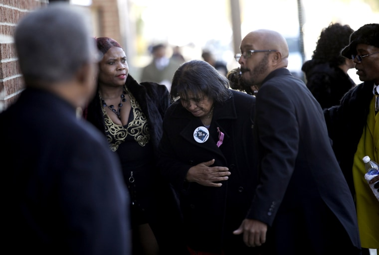Mourners attend the funeral service for shooting victim Renisha McBride in Detroit