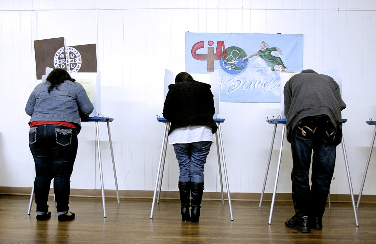 Voters cast their ballots in Texas, Jan. 24, 2013.