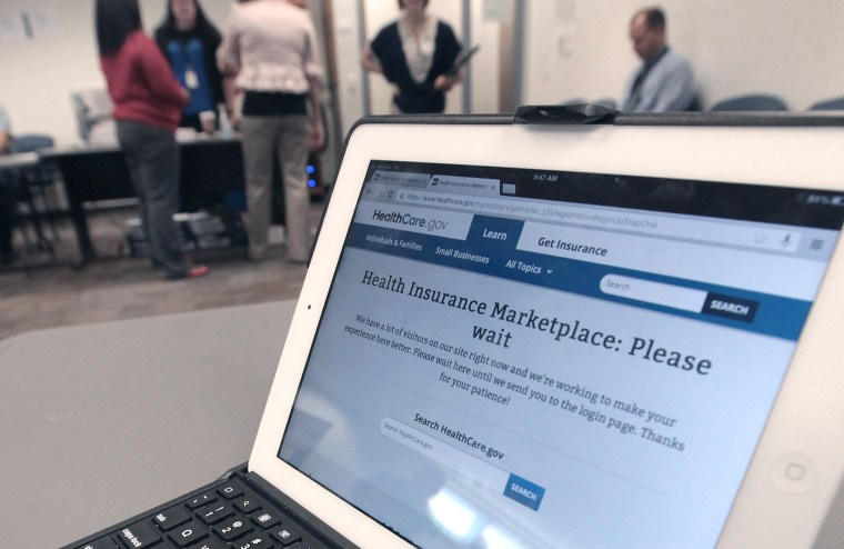 During the initial hours of launch, a new federal government website dedicated to health insurance exchanges remained largely inaccessible to consumers looking to enroll in the new program at the Dane County Job Center in Madison, Wis. Tuesday, Oct. 1, 2013.