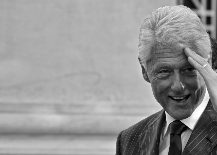 Bill Clinton visits Yale Law School, Oct. 5, 2013.
