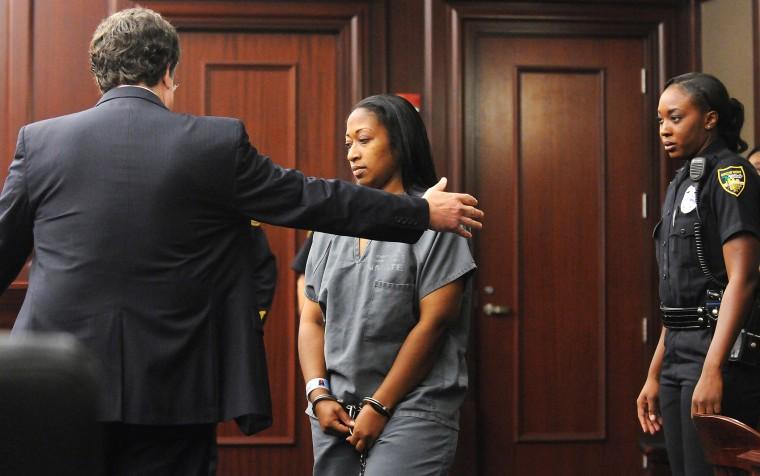 Marissa Alexander arrives in court, Oct. 31, 2013.