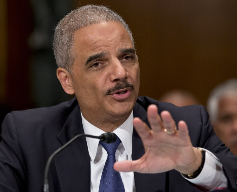 Attorney General Eric Holder testifies on Capitol Hill in Washington, June 6, 2013.