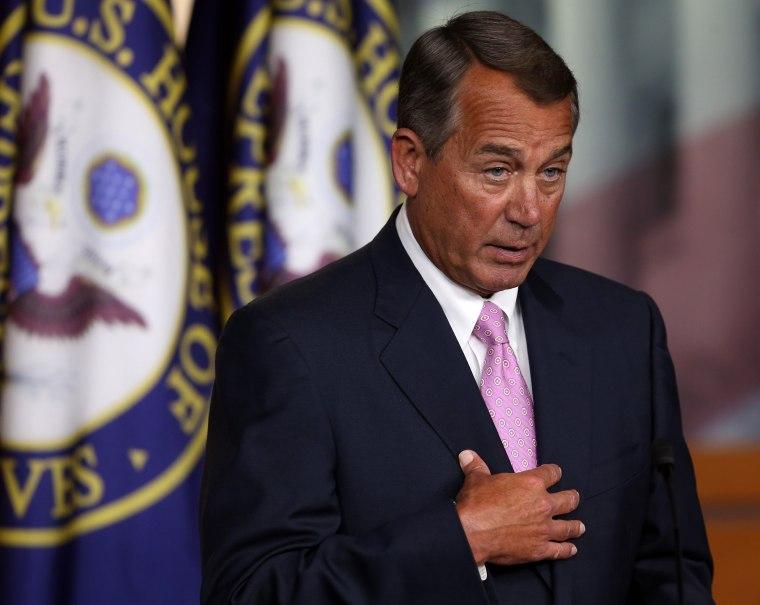 House Speaker John Boehner speaks at the U.S. Capitol, November 14, 2013 in Washington, D.C.