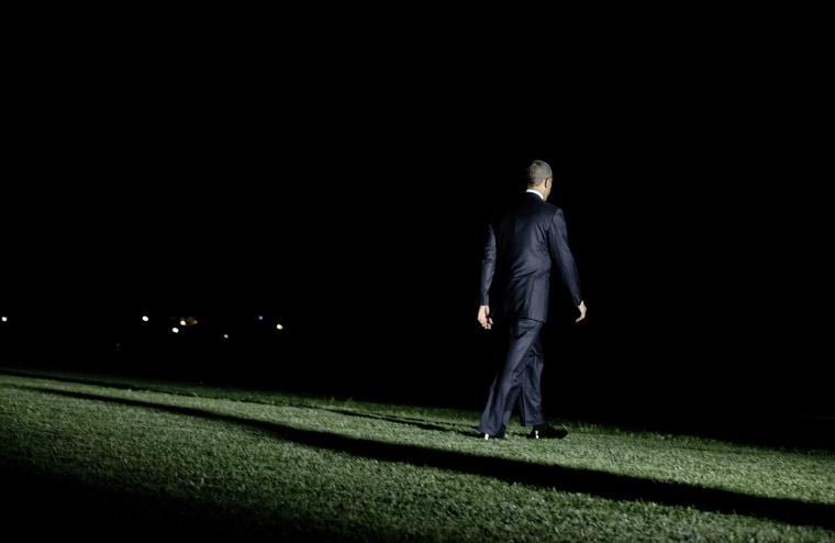 President Barack boards Marine One on the South Lawn of the White House on Sept. 3, 2013 in Washington.