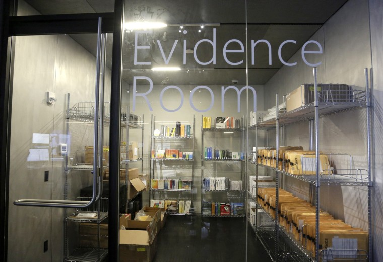 The forensics lab's evidence room is pictured inside the Microsoft Cybercrime Center, the new headquarters of the Microsoft Digital Crimes Unit, in Redmond, Washington November 11, 2013.