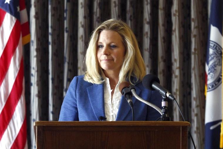 Liz Cheney speaks during a campaign appearance in Casper, Wyo. on July 17, 2013.