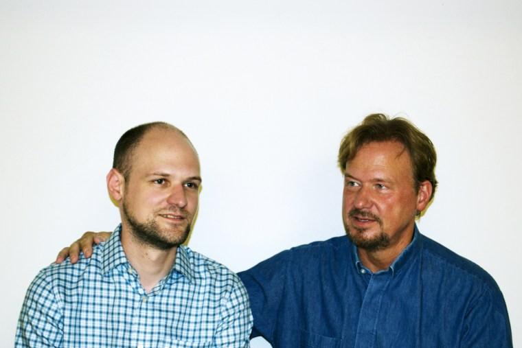 Rev. Frank Schaefer with his son, Tim, Sept. 2013.