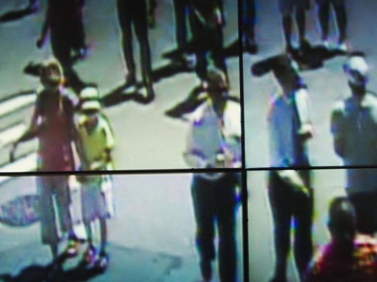Surveillance screens, New York City, 2011.