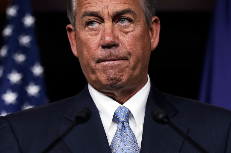 John Boehner holds a press briefing at the Capitol, Holds Press Briefing At Capitol, Nov. 21, 2013.