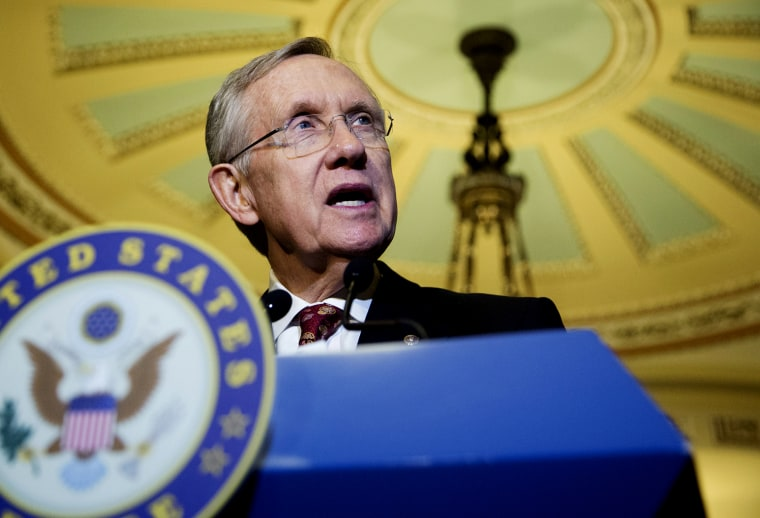 Senate Majority Leader Sen. Harry Reid, D-Nev., speaks to the media on Capitol Hill in Washington on Nov. 19, 2013.