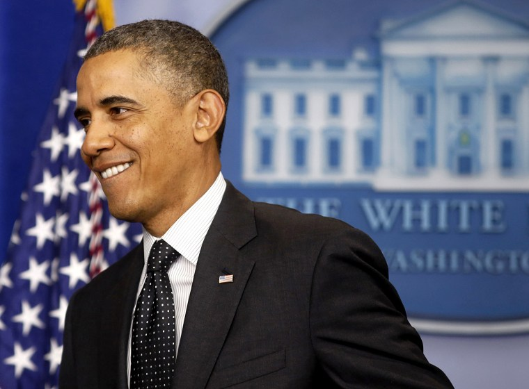 President Barack Obama walks out after making a statement about the U.S. Senate's efforts to confirm his Administration's nominees while in the Brady Press Briefing Room at the White House, in Washington on Nov. 21, 2013.