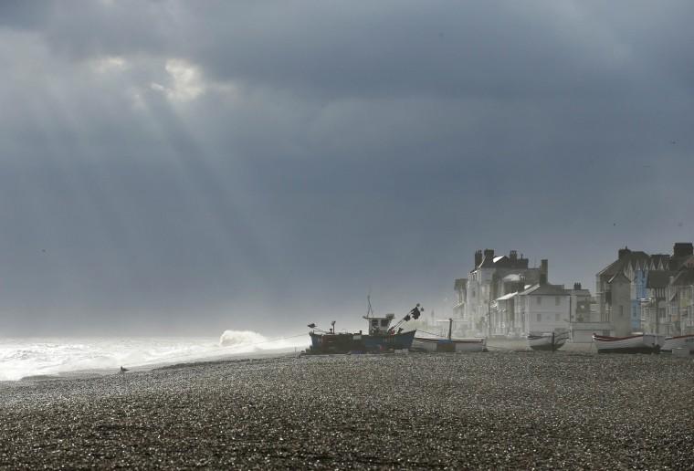 Sunlight breaks through the clouds, November 21, 2013.