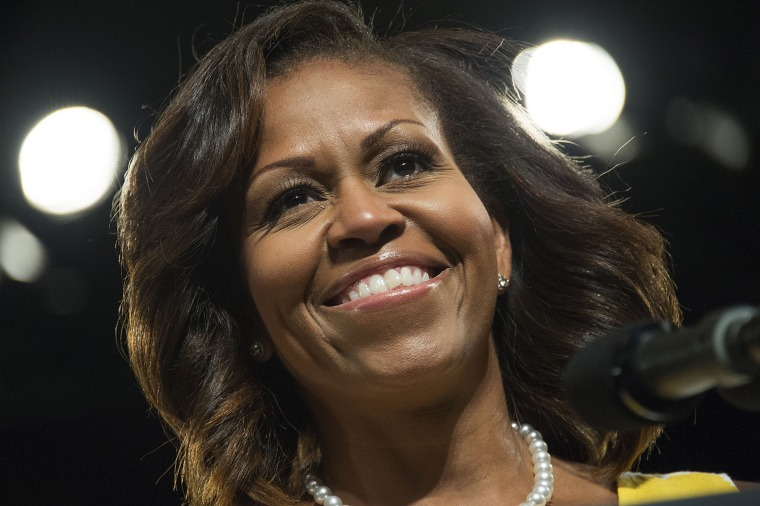 First Lady Michelle Obama speaks at the Disabled American Veterans National Convention in Orlando, Fla. on Aug. 10, 2013.