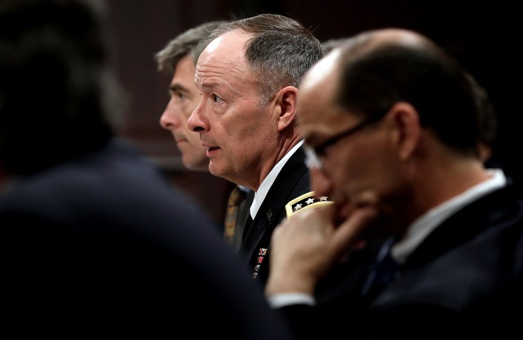 General Keith Alexander (C), Director of the National Security Agency, testifies before the House Select Intelligence Committee June 18, 2013 in Washington, DC.