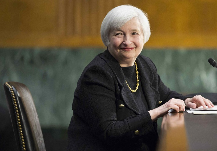 U.S. Federal Reserve Vice Chair Janet Yellen testifies during a Senate Banking Committee confirmation hearing on Capitol Hill in Washington in this file photo taken November 14, 2013.