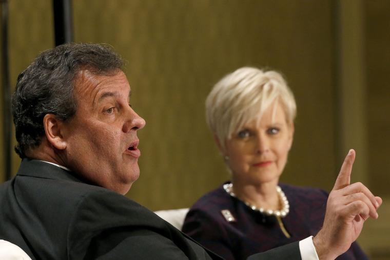 New Jersey Gov. Chris Christie talks at a forum in Phoenix on Friday, Nov. 22, 2013.