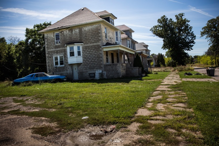 An abandoned home in Detroit, Michigan, Sept. 5, 2013.