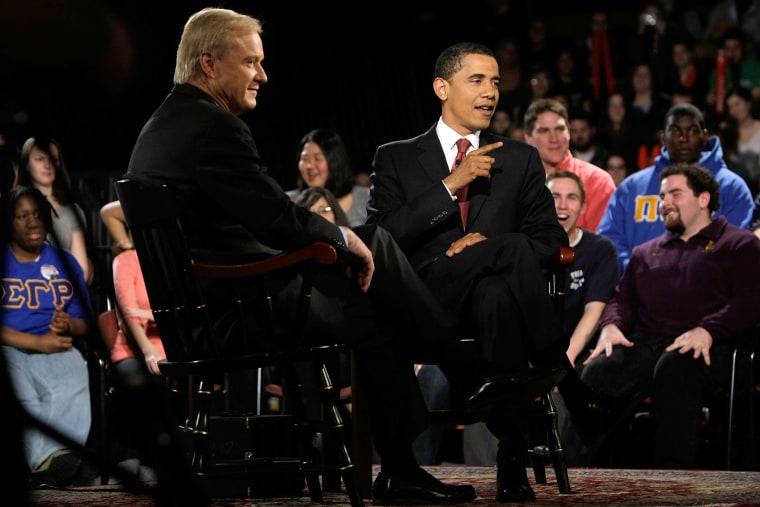 Barack Obama and Chris Matthews