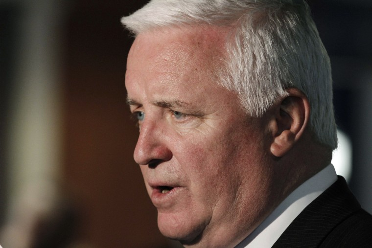 Pennsylvania Governor Tom Corbett attends an awards banquet at Heinz Field on April, 18, 2013 in Pittsburgh.