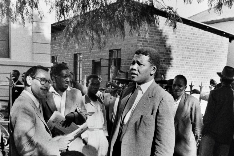 Nelson Mandela, then acting as a defense lawyer, during the Treason Trial in Johannesburg, South Africa, 1961.
