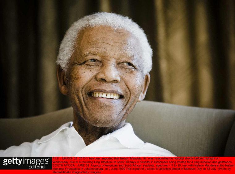 Nelson Mandela at the Nelson Mandela Foundation in Johannesburg, June 2, 2009.