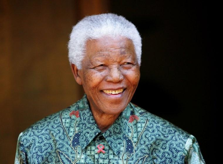 Former South African President Nelson Mandela smiles in Johannesburg, South Africa on Sept. 22, 2005.