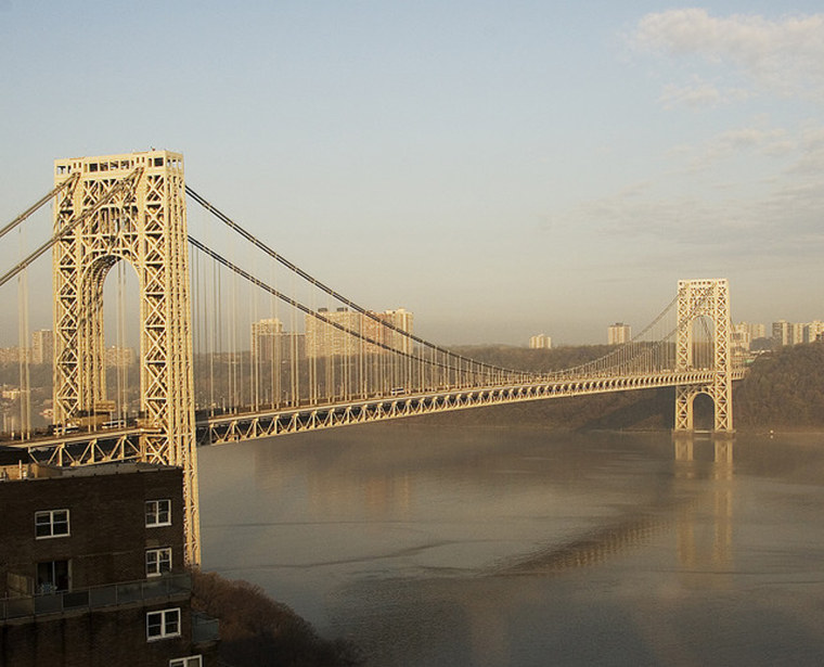 George Washington Bridge looking from Manhattan to New Jersey. Early morning, spring 2007.