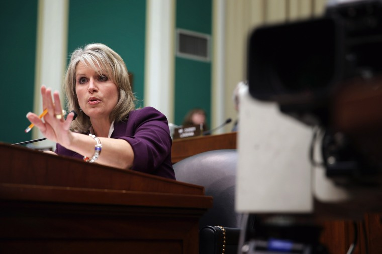 Rep. Renee Ellmers (R-NC) speaks during a hearing on implementation of the Affordable Care Act before the House Energy and Commerce Committee October 24, 2013 on Capitol Hill in Washington, D.C.
