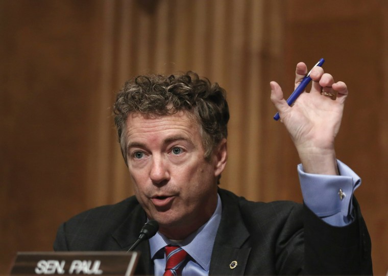 Sen. Rand Paul (R-KY) speaks during a hearing on Capitol Hill in Washington, D.C., November 6, 2013.