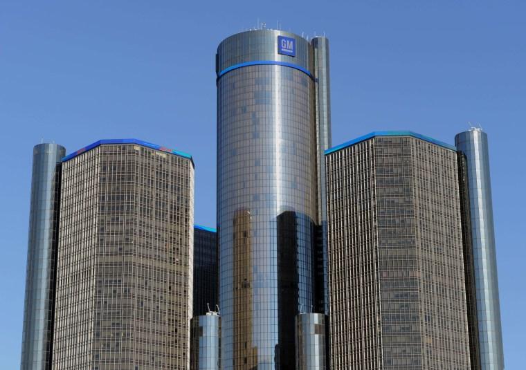 General Motors headquarters in Detroit, Michigan, January 10, 2012 file photo.