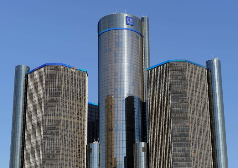 General Motors headquarters in Detroit, Michigan, January 10, 2012 file photo.