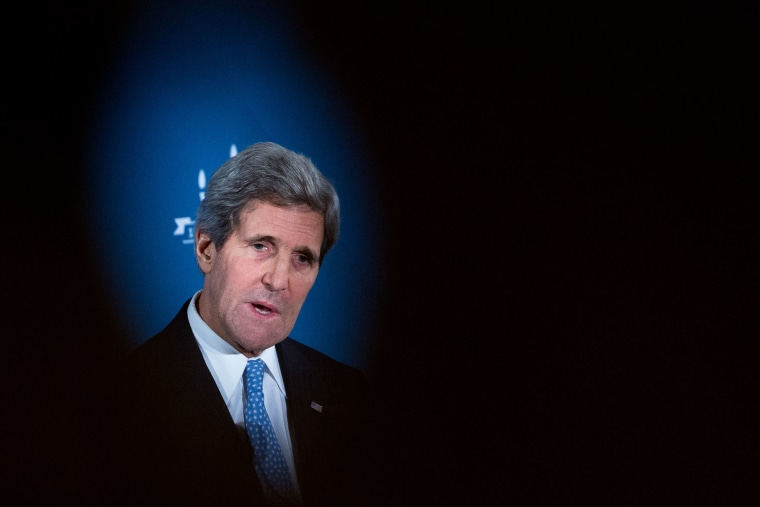 US Secretary of State John Kerry addresses the JDC centennial celebration in Washington, Dec. 9, 2013.