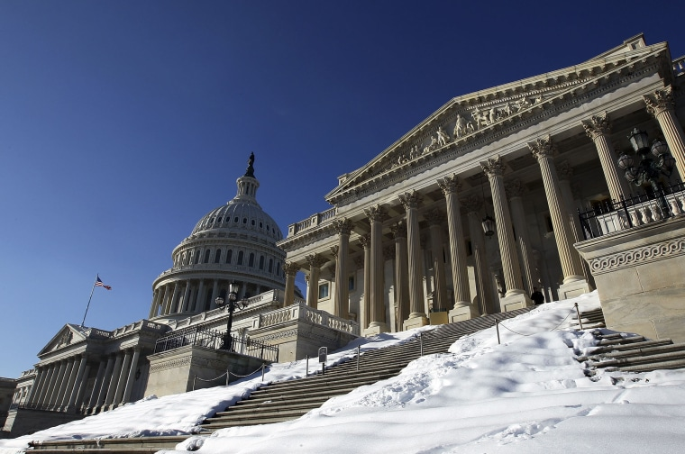 The U.S. Capitol, and U.S. Senate chamber (R), are shown December 23, 2009 in Washington, D.C.