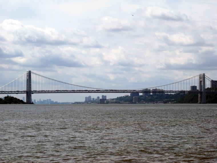 The George Washington Bridge spanning between New York City and Ft. Lee, NJ, September 5, 2013.