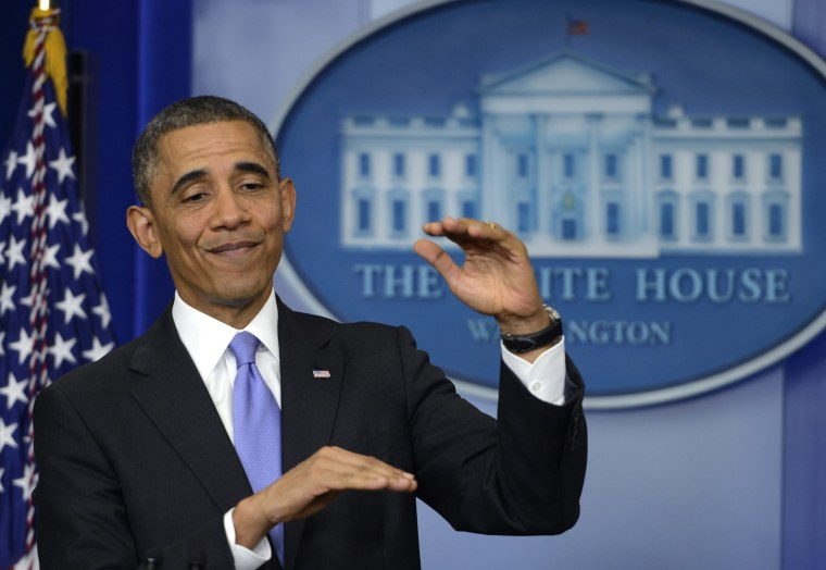 President Barack Obama delivers remarks on the Affordable Care Act in the Brady Press Briefing room at the White House in Washington, D.C., November 15, 2013.