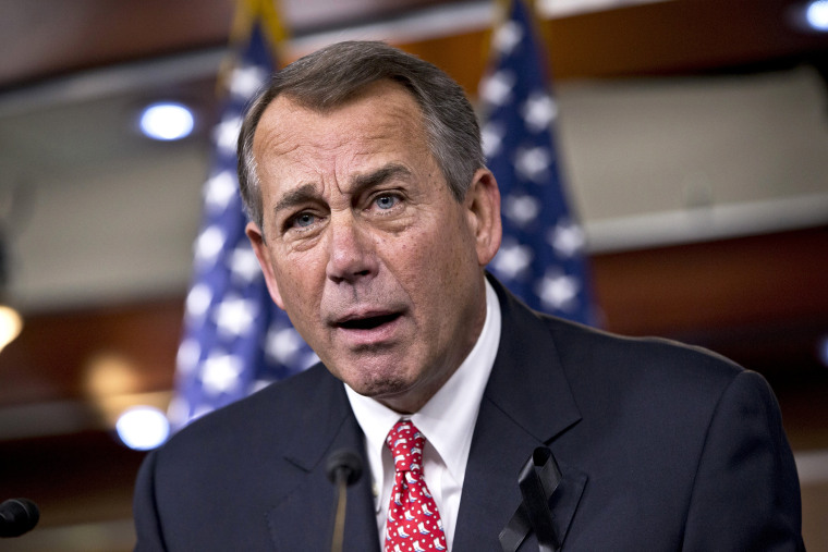 John Boehner rebukes conservative groups who oppose the pending bipartisan budget compromise, Dec. 12, 2013.