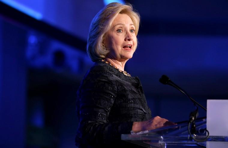 Former U.S. Secretary of State Hillary Clinton speaks on Nov. 14, 2013 in Washington, DC.