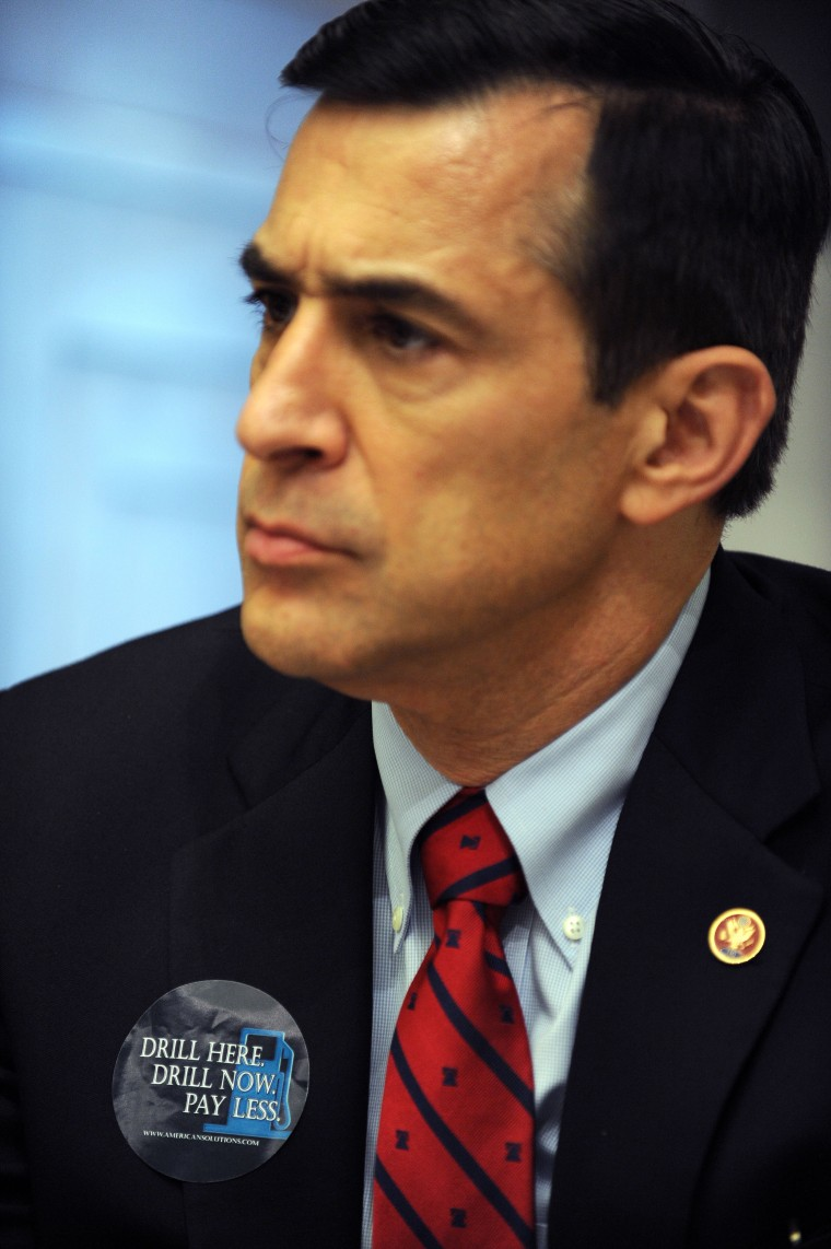 Representative Darrell Issa, Republican of California, during a hearing on June 20, 2008 on Capitol Hill in Washington, D.C.