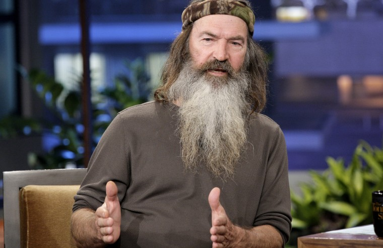 """Phil Robertson appears on  """"The Tonight Show with Jay Leno"""" on Nov. 19, 2012"""