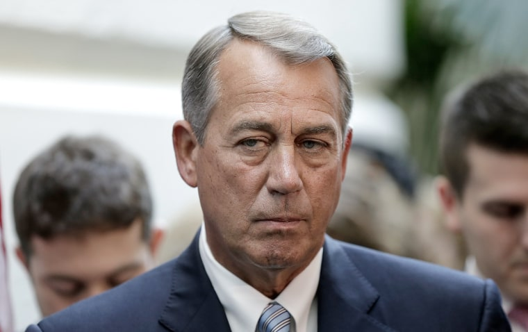 Speaker of the House John Boehner (R-OH) appears at a press conference at the U.S. Capitol on November 19, 2013 in Washington, D.C.