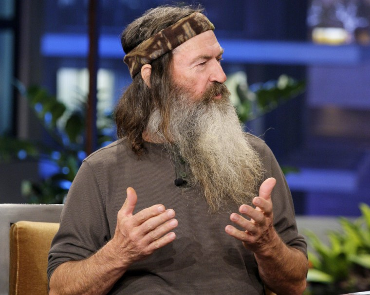 Phil Robertson during an interview, Nov. 19, 2012.