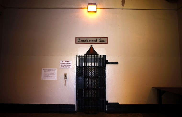 The entrance to death row is seen at San Quentin state prison in San Quentin, Calif., June 8, 2012.