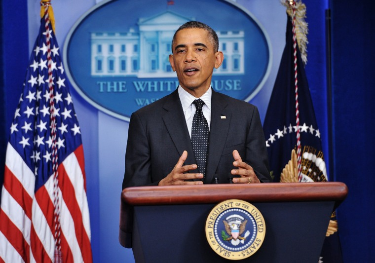 President Barack Obama speaks during a press conference in the Brady Briefing Room of the White House on Nov. 21, 2013 in Washington, DC.